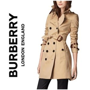 🆕 Burberry Sandringham Trench with Lambskin Trim
